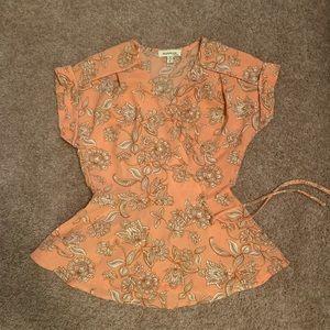 Floral wrap Monteau blouse